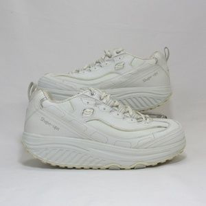 Skechers Womens Size 9.5 White Shape-Ups SN 11800
